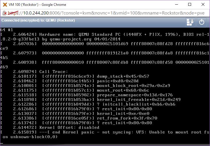 New 4 2 2 kernel panics on proxmox VM [Solved] - Troubleshooting