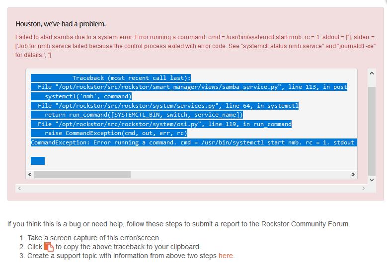 Fresh install - upgrade breaks - Rockstor Community Forum